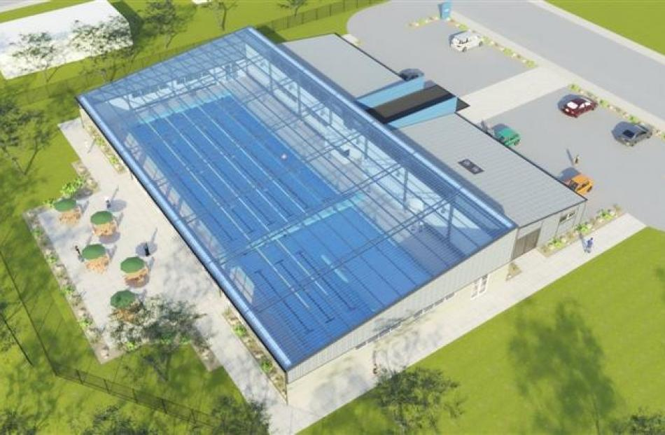 Artists' impressions of what the Tuapeka Aquatic Centre could look like.