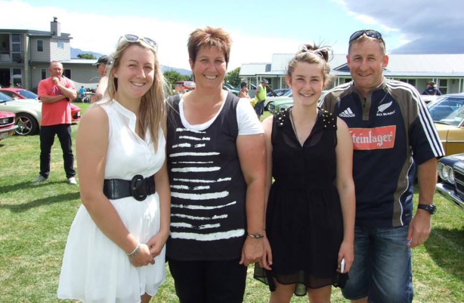 Ashleigh (16), Lynne, Hailey (13) and David Laverty, of Winton.