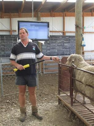 At Matakanui Station are (from left) New Zealand Merino commercial manager Craig Adams, SmartWool...