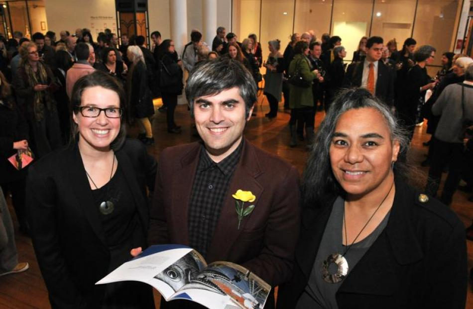 At the launch of the draft Dunedin arts and culture strategy last night are (from left) Dunedin...