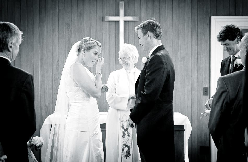 At the wedding ceremony of Fiona Murray and Andrew White in Wairarapa in February. REBECCA...