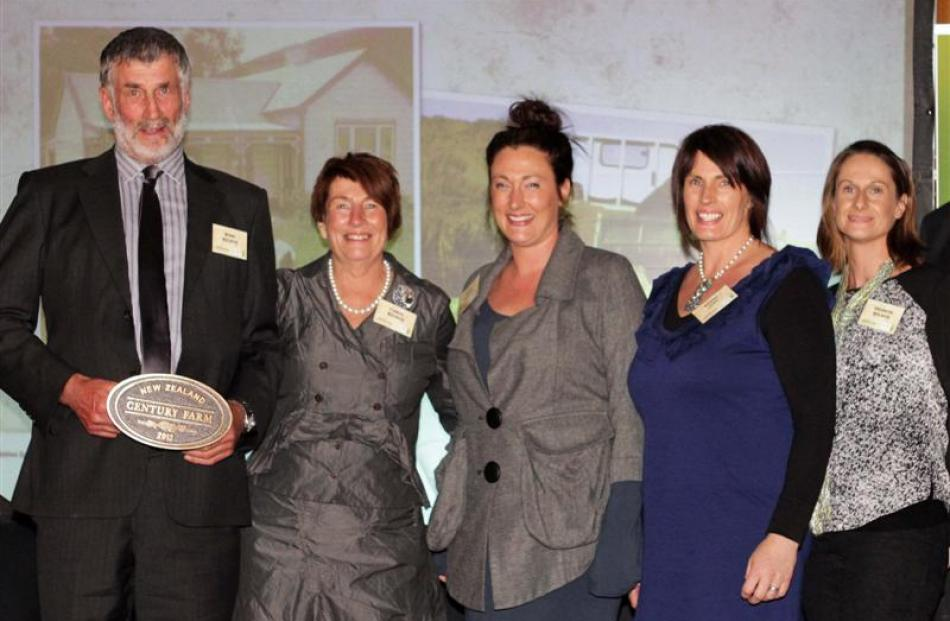 Attending the New Zealand Century Farm and Station Awards in Lawrence were Ross and Carol Wilson,...