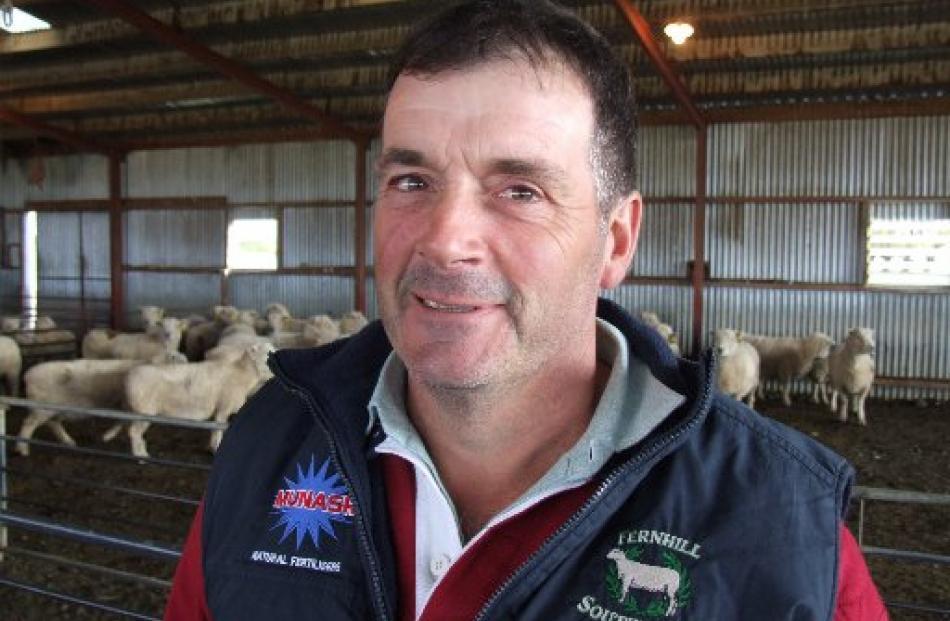 Australian Southdown breeder Graeme Dehnert has been enjoying his first trip to New Zealand.