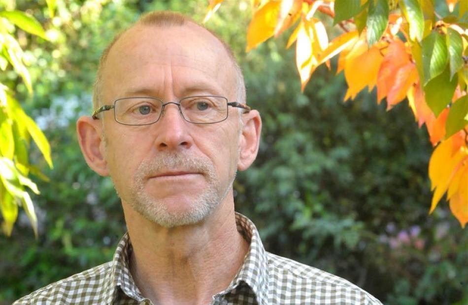 Dunedin author Raymond Huber. Photo by Christine O'Connor.