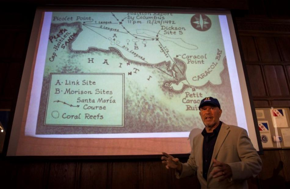 Barry Clifford speaks about the shipwreck during a news conference at the Explorers Club in New...