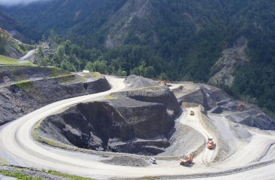 Bathurst Resources' Cascade mine operation in the Denniston Plateau area on the West Coast last...