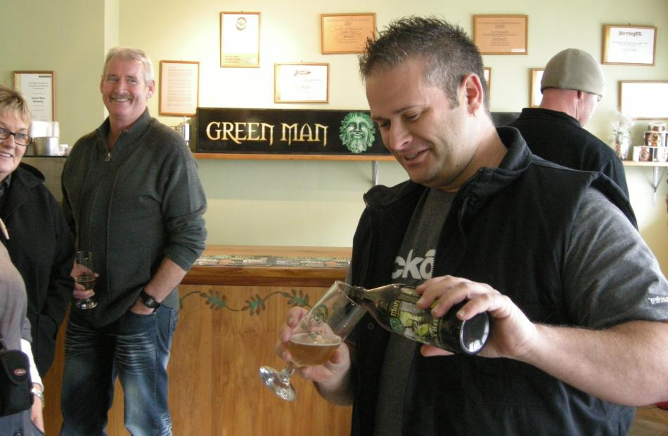 Beer Tour at Green-man Brewery.