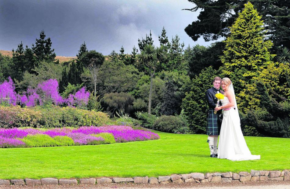 Ben and Sian Sim at their Larnach Castle wedding in March. SVZ PHOTOGRAPHY.