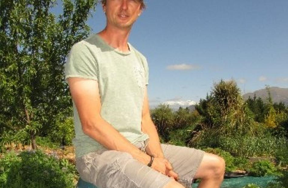 Ben Elms in his Hawea Flat ''food forest''. Photos by Mark Price.