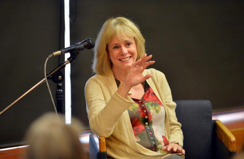 Best-selling United States forensics mystery writer Kathy Reichs entertains and informs during...