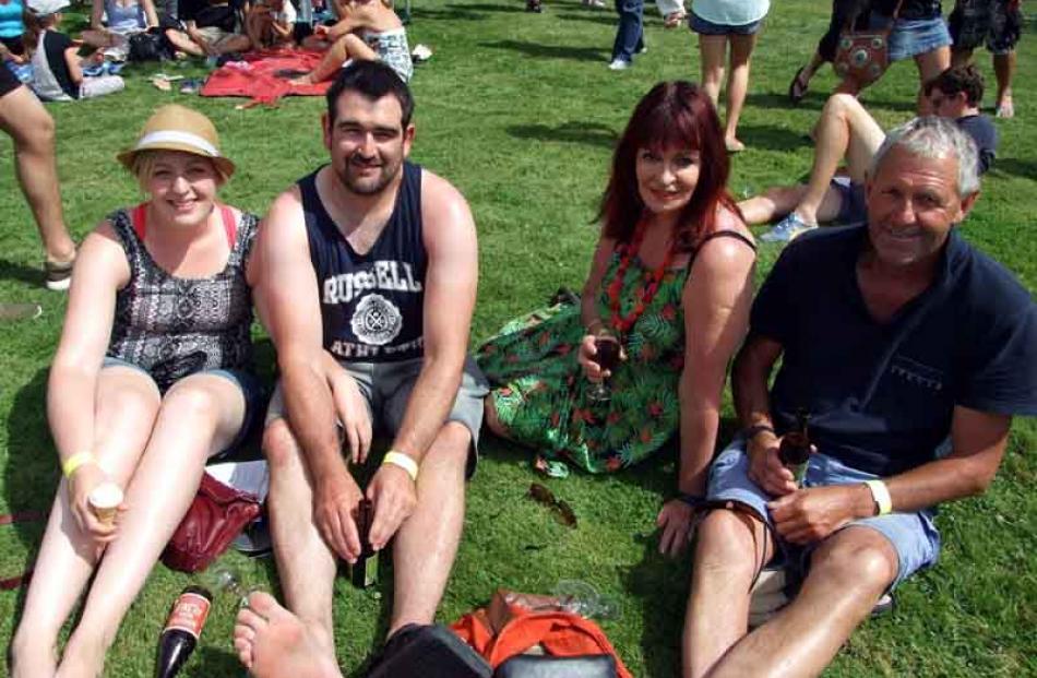 Beth Fairbairn and Jamie Blair, both of Dunedin, with Brenda and Des Gill, of Invercargill.