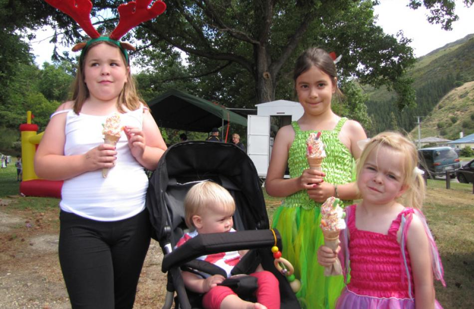Beth Kirkpatrick (9), Poppy Smith (15months), Molly Kirkpatrick (7) and Ruby Smith (3), all of...