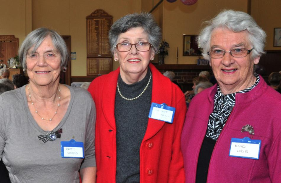 Betty Woods, Daphne Riddell and Enid Weir, all of Dunedin.