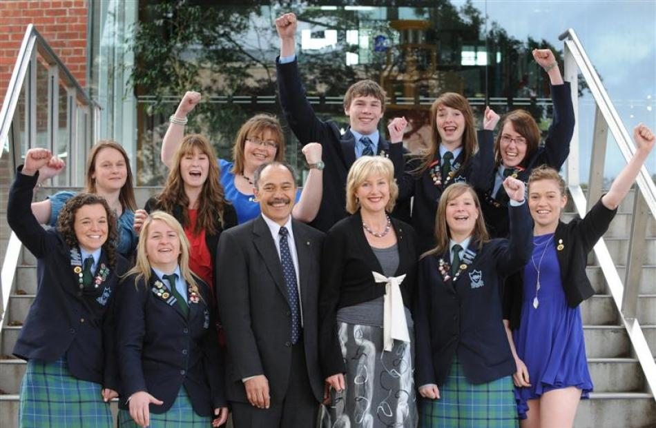 Blue Mountain College Duke of Edinburgh's Hillary Award gold recipients (back, left to right)...