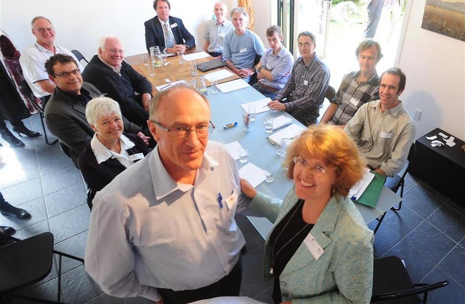 Blueskin Resilient Communities Trust chairwoman Lynnaire Johnston and Dr Morgan Williams,...