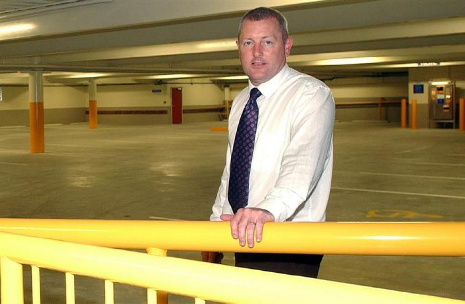 Brent Bachop  in the  Moray Pl car park. Photo by ODT.