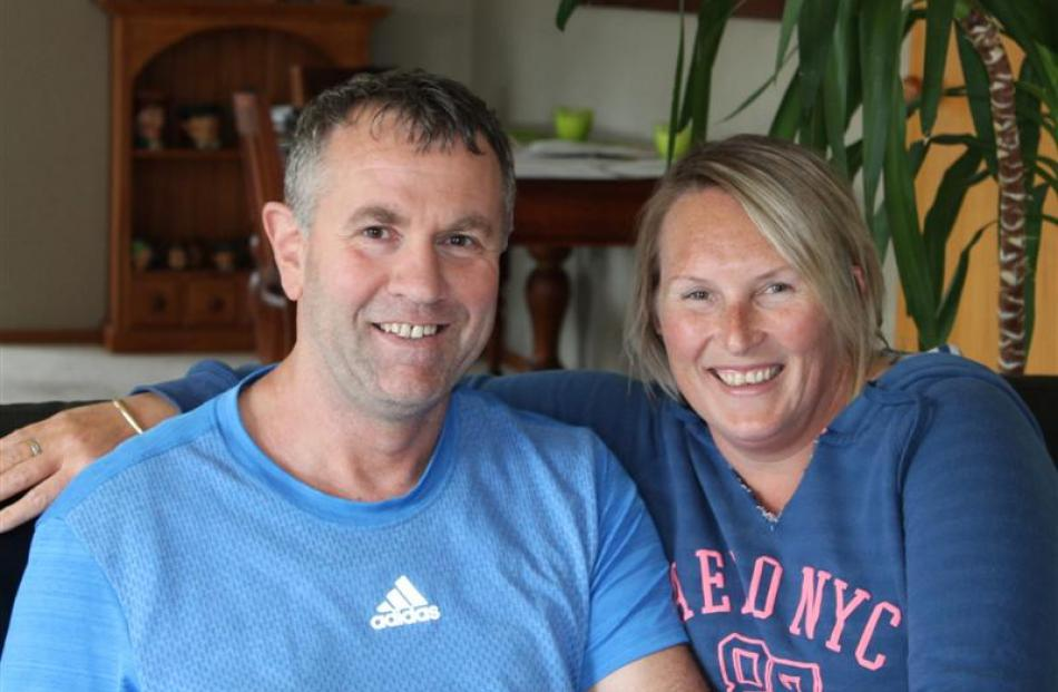Brian Cowie and partner Jo Parnham at their Invercargill home. Photos by Allison Beckham.