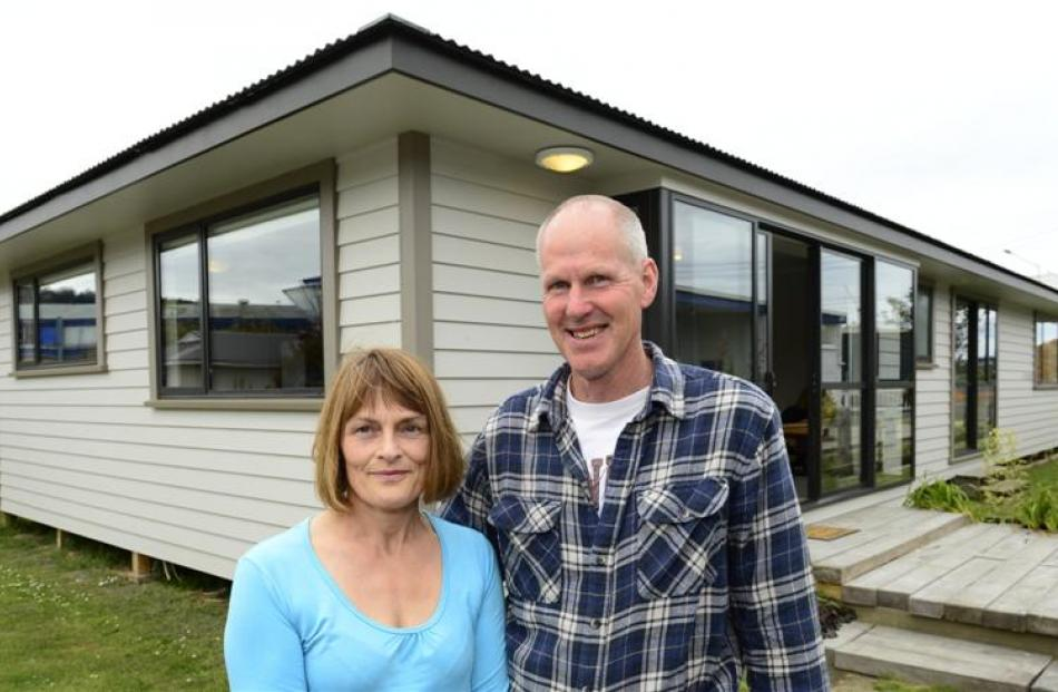 Brighton couple Jane and Peter Smith bought the four-bedroom Otago Polytechnic Charity House in a...