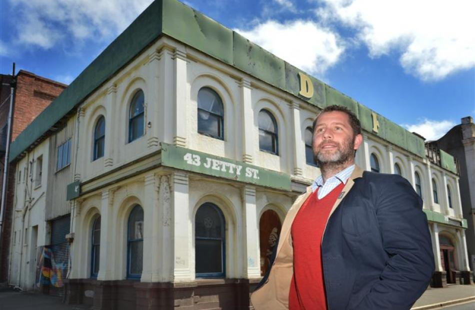 Building owner Dr Hayden Cawte's plans to convert the 130-year-old Woodstock Building into...