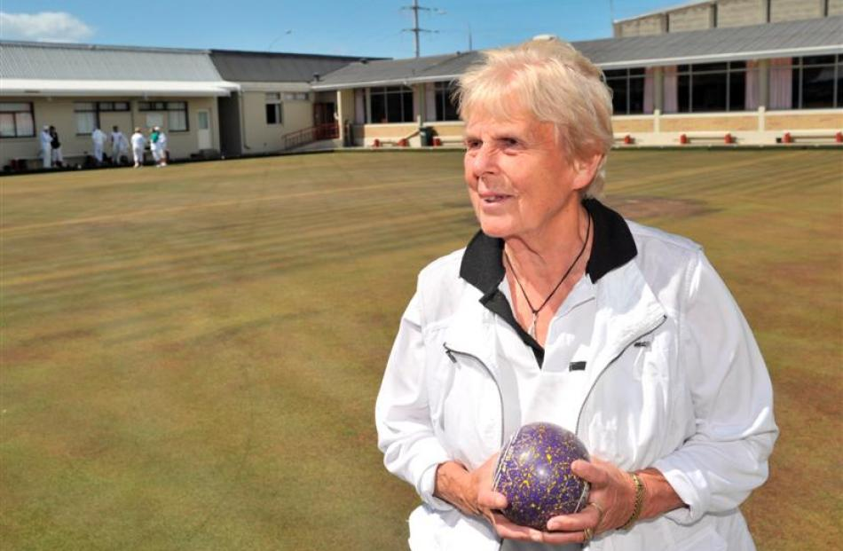 Caledonian Bowling Club chairwoman Jan Tucker speaks about the club's future at the Caledonian...