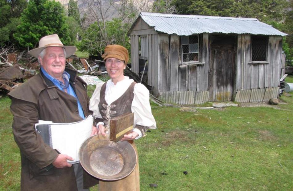 Cardrona Heritage Trust chairman Tim Scurr and Cardrona Vintage Fair co-ordinator Hil Stapper...