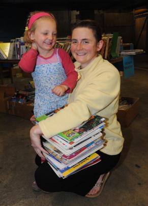 Cassandra Mattulat Scholz (4) and her mother, Ulrike Mattulat, of Dunedin.