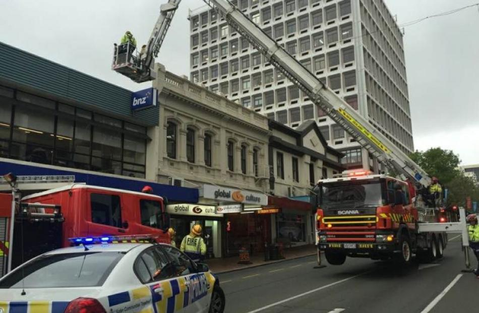 Part of George St was closed for nearly an hour. Photo: Rhys Chamberlain