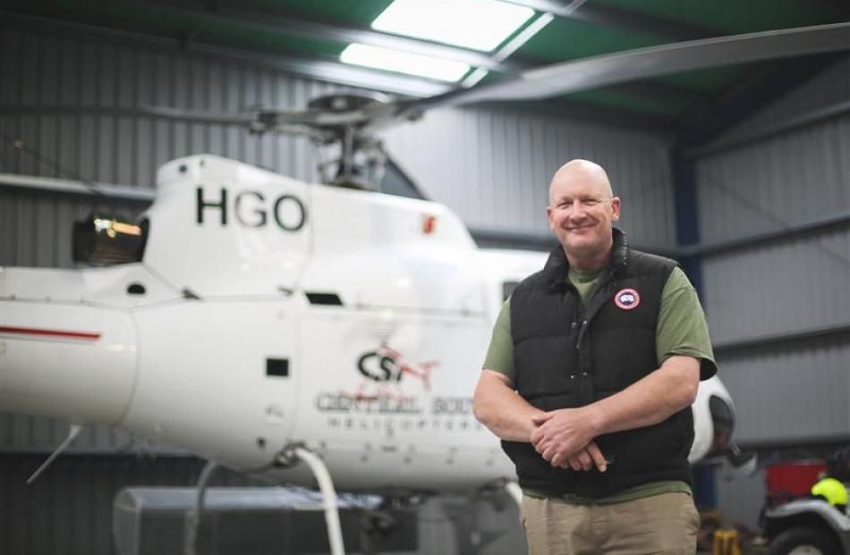 Central South Island Helicopters owner John Oakes. Photo by Rebecca Ryan.