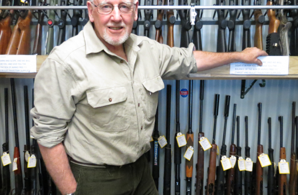 Centrefire McCarthy's Stream and Field Store managing director Selwyn Shanks says the private gun...