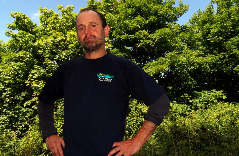 Chalmers Community Board chairman Steve Walker  cannot wait to get started on the eradication of...