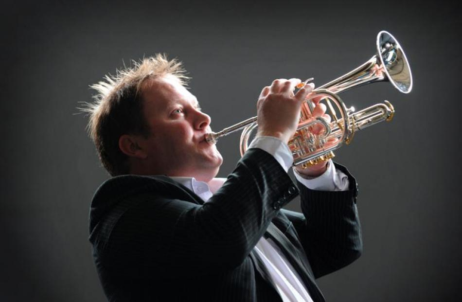 Champion Dunedin cornet player John Lewis yesterday. Photo by Gerard O'Brien.