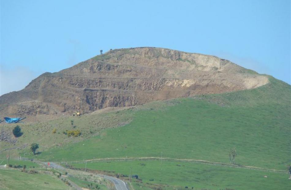 Changing? A view of the ridge line of Saddle Hill taken from Law Rd on October 23 last year...