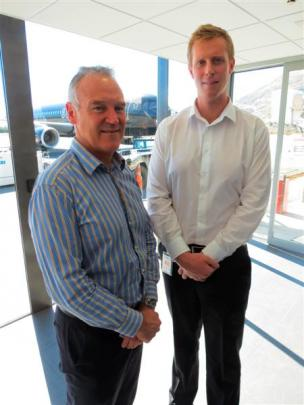 Chief executive Scott Paterson (left) and operations general manager Mark Harrington at...