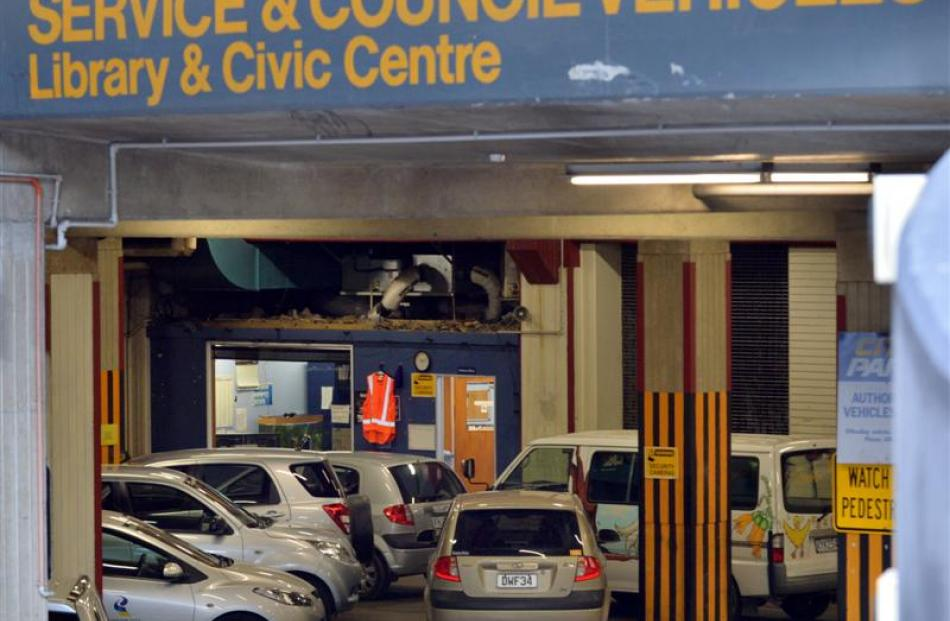 Citifleet vehicles in the Dunedin City Council's Moray Pl, Dunedin, car park yesterday. Photo by...