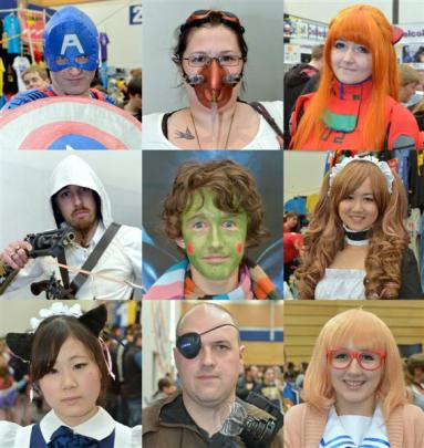Clockwise by top left: Will Allan (Captain America), Jackee Moore (Steampunk character), Kameron...
