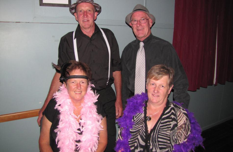 Clockwise from back left: Merv Bried, of Alexandra, Alan Wilkie, of Wanaka, Lea Wilkie, of Wanaka...