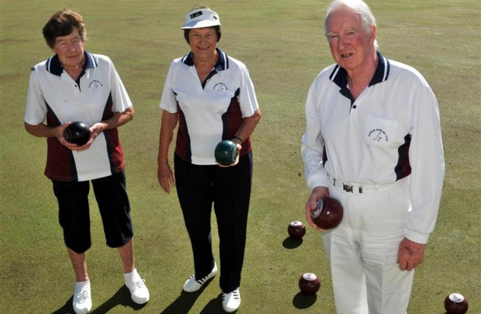 Club members prepare for the 25th annual Outram 2000 bowls tournament this weekend. Pictured ...