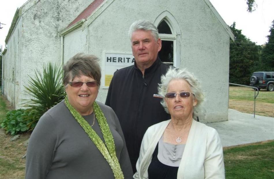 Clutha Valley Tuapeka Heritage Trust members (from left) Margaret Sowry, Graham McGowan and...