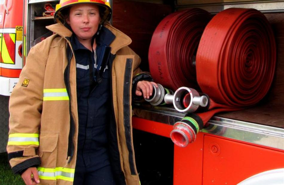 Clyde Volunteer Fire Brigade's newest member Chloe Dowling  would like more members to join her....