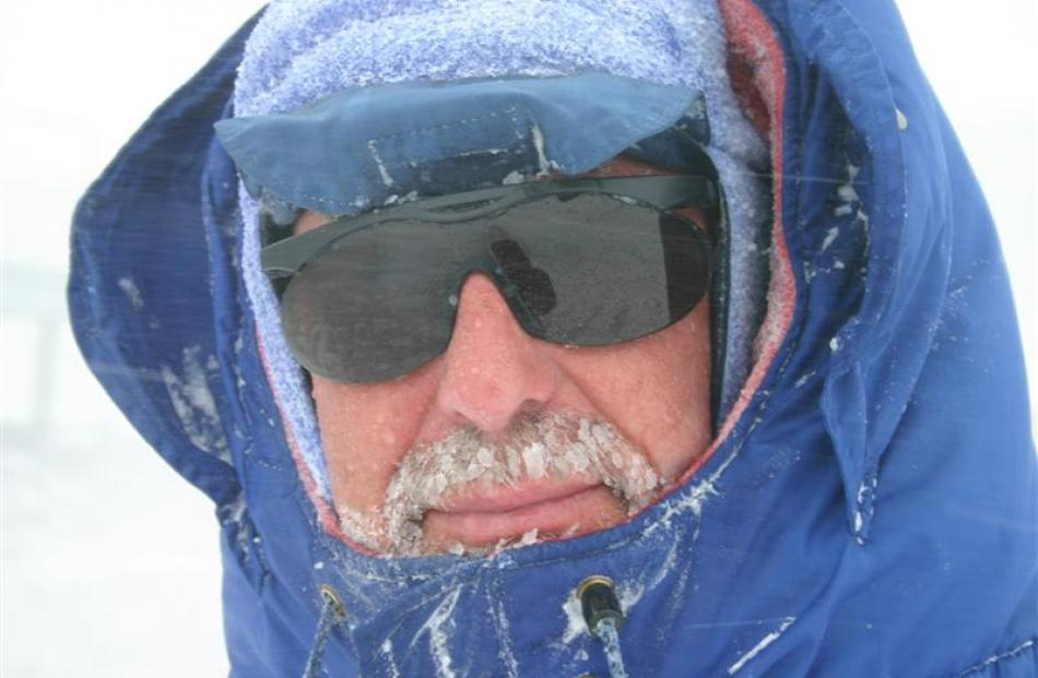 Grahame Sydney in the Antarctic. Photo by Grahame Sydney.