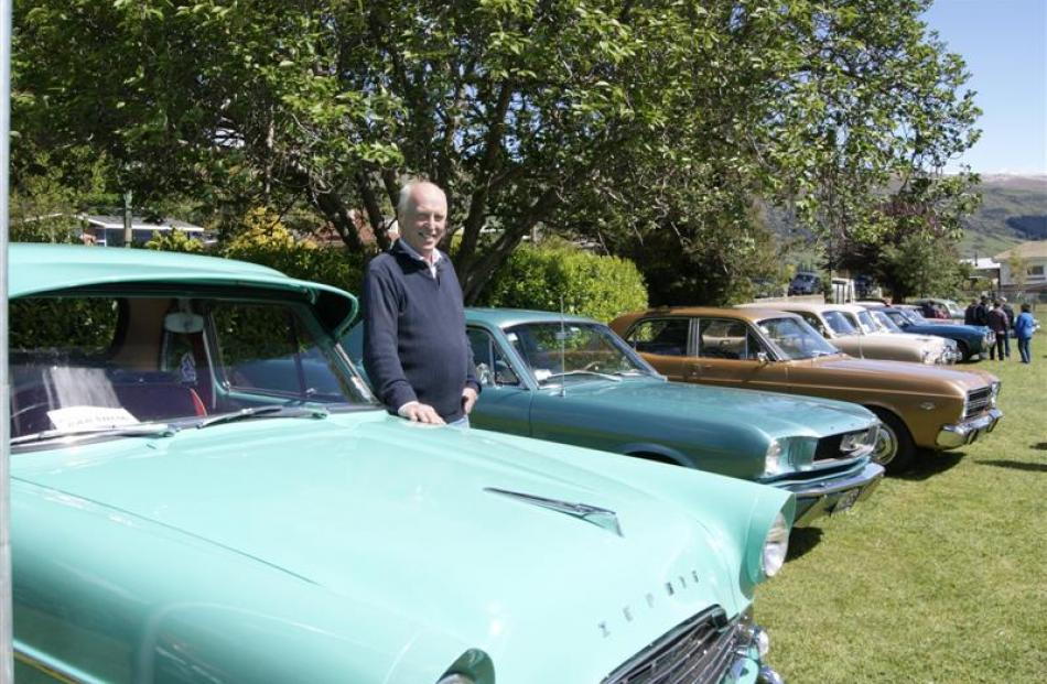 Colin Robb, of Roxburgh, with his Ford Zephyr ute and some of his other classic cars at the...