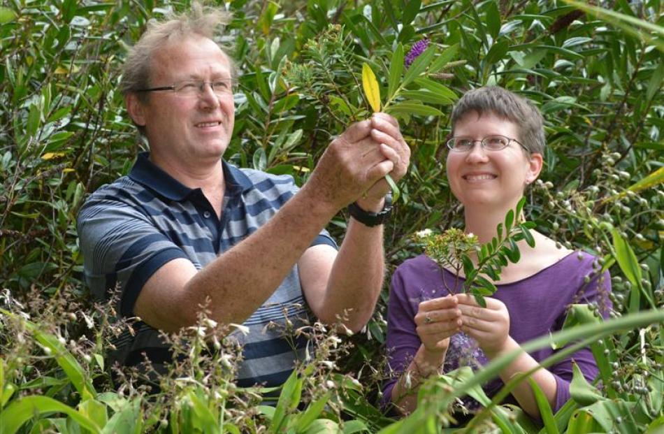 Conservation ecologist Dr Bill Lee and postdoctoral researcher Dr Angela Brandt, both of Landcare...