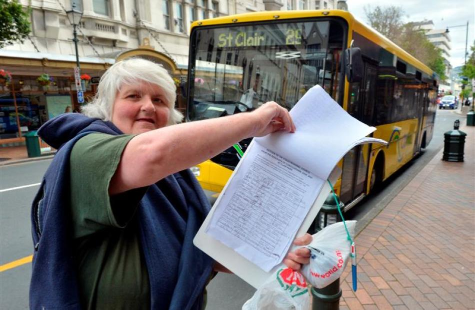 Corstorphine resident Judith Hewitt is collecting signatures for a petition to have changes to...