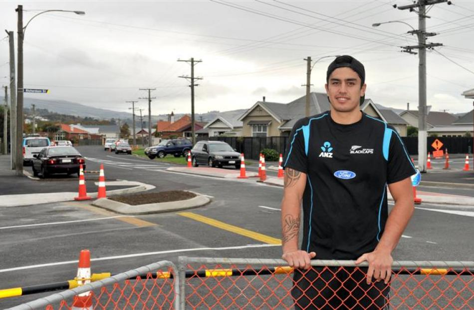 Coughtrey St resident Tipene Friday stands at the intersection of Coughtrey St and Hargest Cres,...