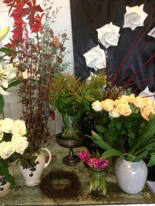 Creative displays at Estelle flowers.