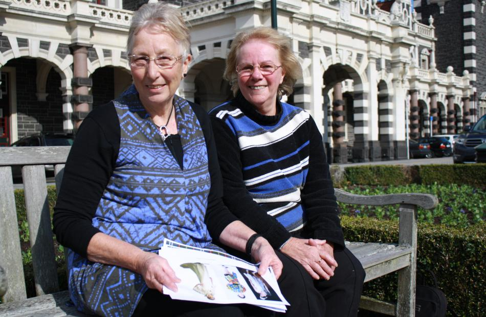 Creative Fibre event secretary Kate McLachlan (left) and Otago area delegate Anne Donovan are...