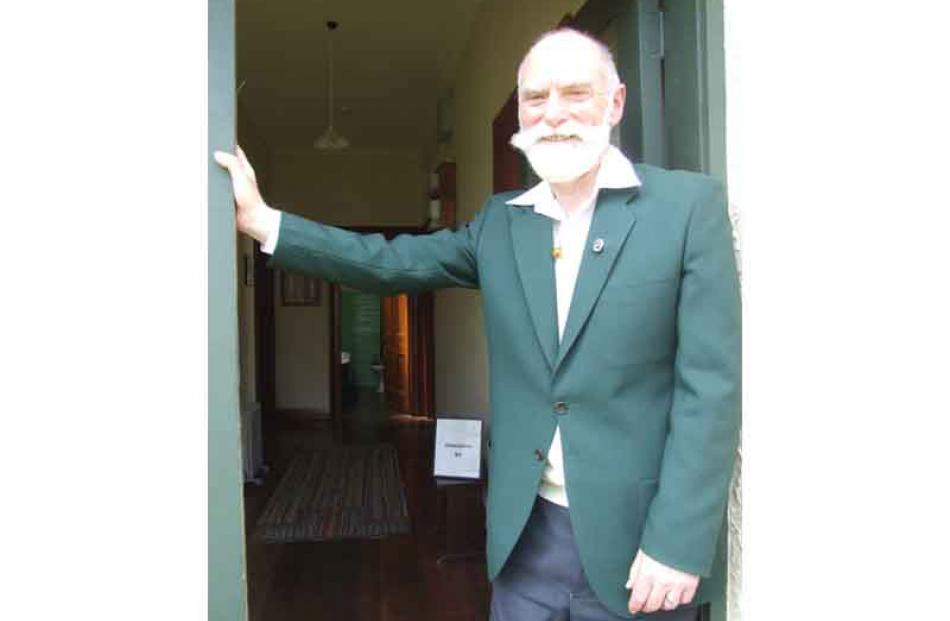 Curator Ralph Sherwood at the front door of Janet Frame's childhood home in Eden St. All photos...
