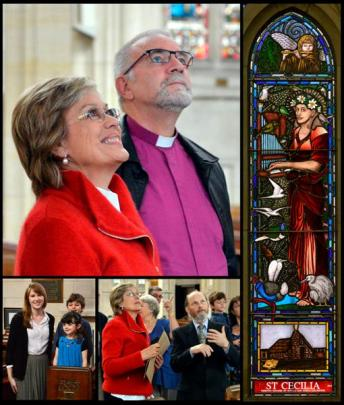Dame Kiri Te Kanawa and the Anglican  Bishop of Dunedin, the Rt Rev Dr Kelvin Wright,  yesterday...
