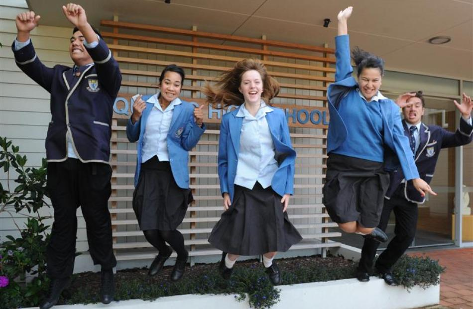 Dance pupils from King's and Queen's High Schools (from left) Josh Elisara, Ana Maka, Ashley...
