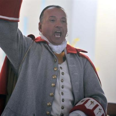 Daniel Richer dit LaFleche, of Gatineau,  Quebec, and his fellow town criers, who are battling it...